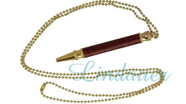 Mini - Kugelschreiber aus Celluloid, mit Kette