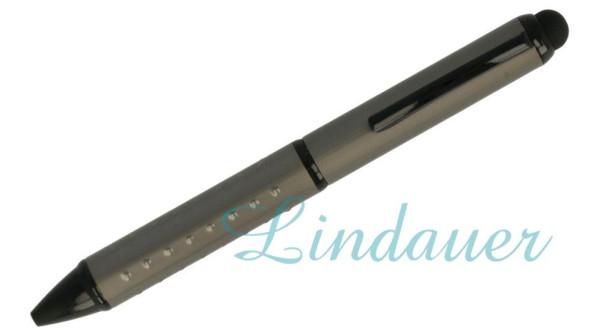 Mini-Kugelschreiber mit Noppen, anthrazit