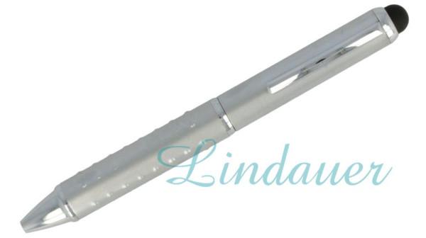 Mini-Kugelschreiber mit Noppen, chrom-matt