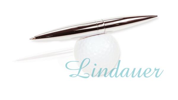 Magnetkugelschreiber auf Golfball