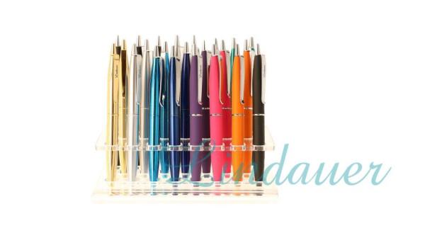 K209 Mini Kugelschreiber neu bunte Farben 24 Stück