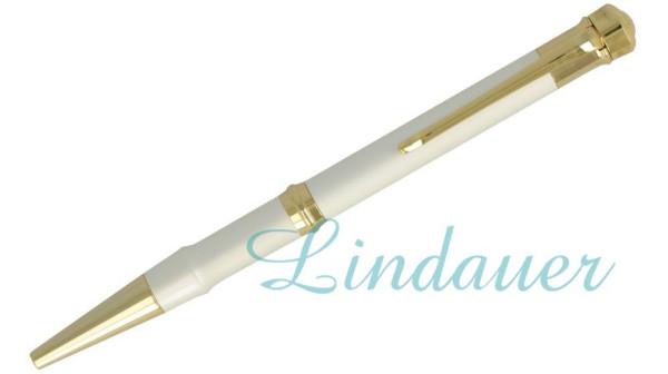 Kugelschreiber, silber- u. goldfarben.