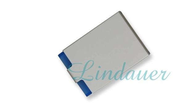 Visitenkarten-Etui, Acryl- blau/ metall